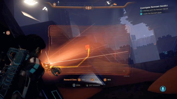 The glyph afar. - Investigate Remnant Derelict on Elaaden - Elaaden - Mass Effect: Andromeda Game Guide
