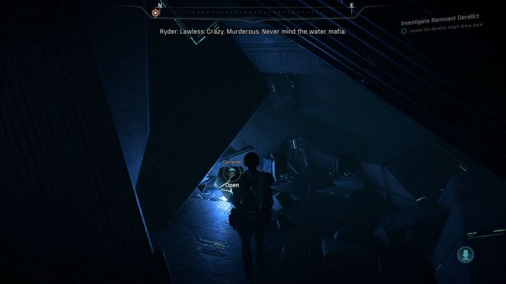 While exploring the derelict ship, it is worth stepping into side corridors, because there are many items to collect there. - Investigate Remnant Derelict on Elaaden - Elaaden - Mass Effect: Andromeda Game Guide