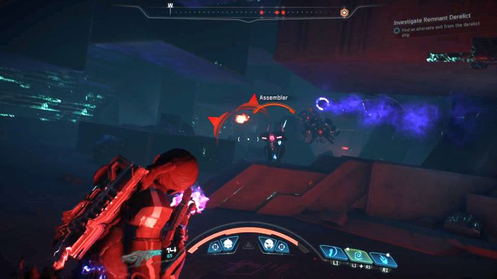 During your last moments on the Remnants ship you have to eliminate quite a large group of enemies. - Investigate Remnant Derelict on Elaaden - Elaaden - Mass Effect: Andromeda Game Guide