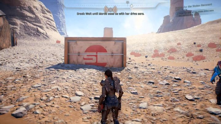 The first object to scan is stored inside this container. - Search for the Stolen Remnant Drive Core on Elaaden - Elaaden - Mass Effect: Andromeda Game Guide