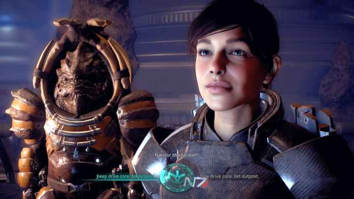 The last conversation in this mission includes a key decision. - Search for the Stolen Remnant Drive Core on Elaaden - Elaaden - Mass Effect: Andromeda Game Guide