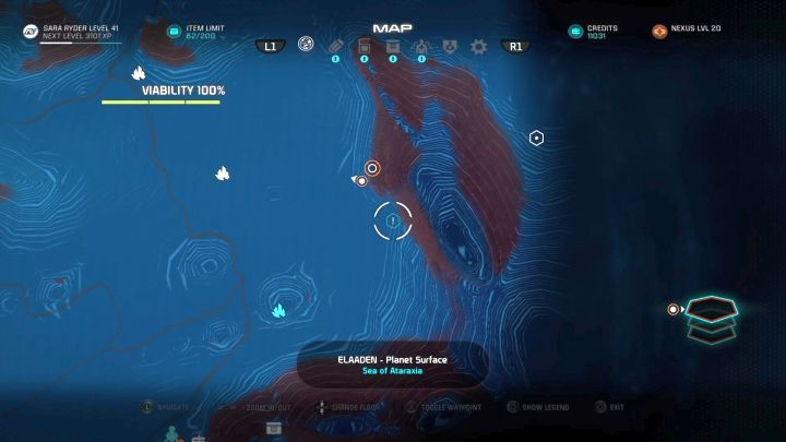 The missions starting point. - Aspirations | Elaaden - Elaaden - Mass Effect: Andromeda Game Guide