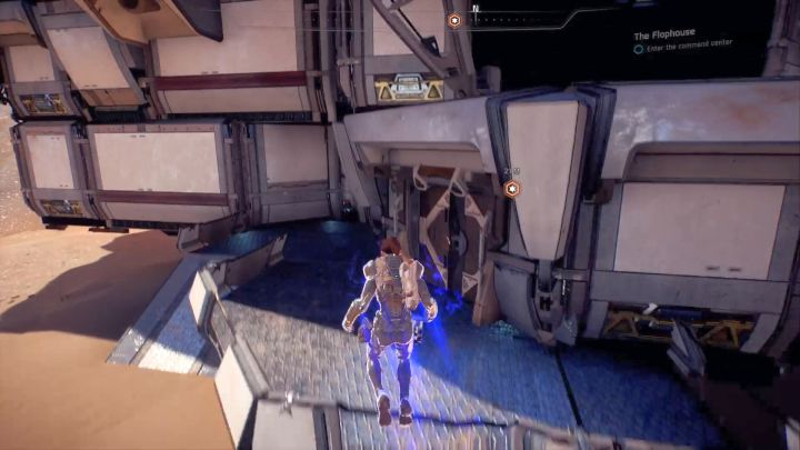 You just need to approach the entrance to the command center. - The Flophouse on Elaaden - Elaaden - Mass Effect: Andromeda Game Guide