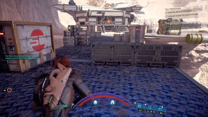 Afar, there is a building with the terminal that you must hack. - The Flophouse on Elaaden - Elaaden - Mass Effect: Andromeda Game Guide
