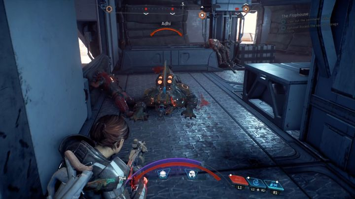 This phase of the mission requires you to kill all enemies on the ground floor of the command center. - The Flophouse on Elaaden - Elaaden - Mass Effect: Andromeda Game Guide