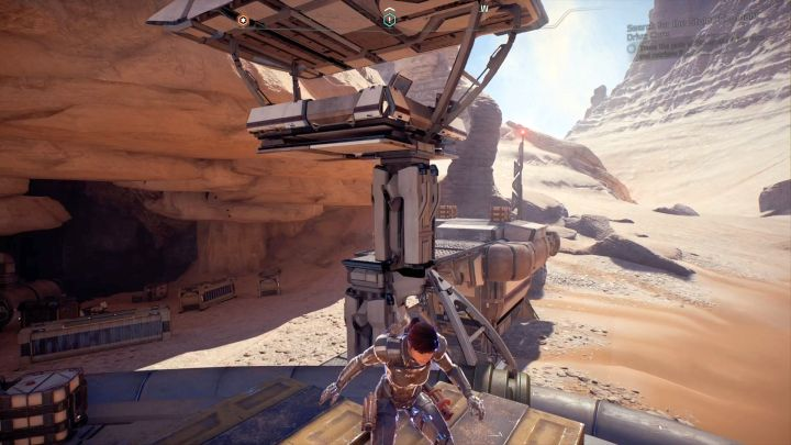 There is a terminal at the top of the tower, which is essential for starting the mission. - Water Supply on Elaaden - Elaaden - Mass Effect: Andromeda Game Guide