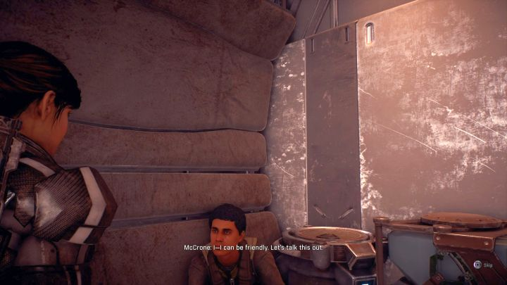 By talking to Mccron you will learn where Noras thruster is. - Hard Luck | Elaaden - Elaaden - Mass Effect: Andromeda Game Guide