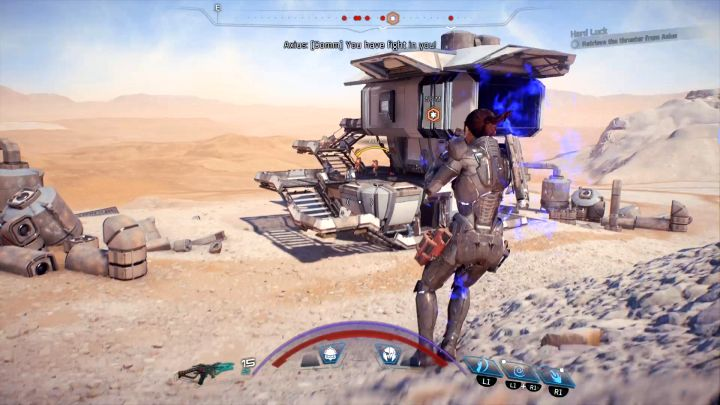The building where you can find Axius. - Hard Luck | Elaaden - Elaaden - Mass Effect: Andromeda Game Guide
