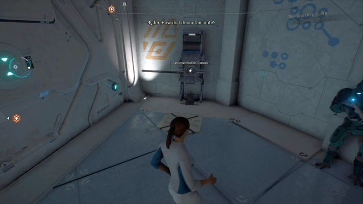 This terminal is used for decontamination. - The Search for Ljeta on Elaaden - Elaaden - Mass Effect: Andromeda Game Guide