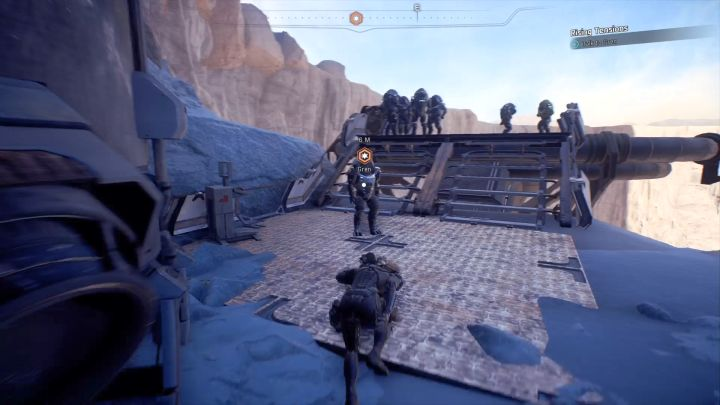 A conversation with Gren now awaits you. - Rising Tensions on Elaaden - Elaaden - Mass Effect: Andromeda Game Guide