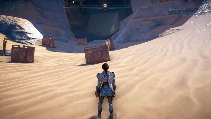 The entrance to the cave where Isabel is. - Other quests on Elaaden - Elaaden - Mass Effect: Andromeda Game Guide