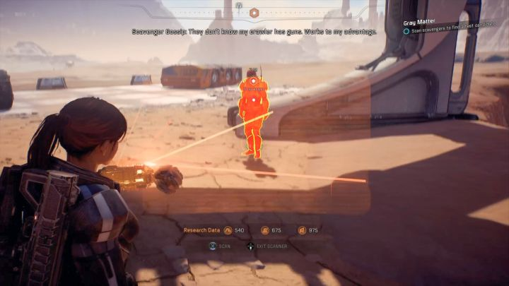 The scavenger you must scan. - Other quests on Elaaden - Elaaden - Mass Effect: Andromeda Game Guide