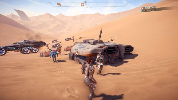 Finally, you just need to talk to any of the survivors. - Other quests on Elaaden - Elaaden - Mass Effect: Andromeda Game Guide