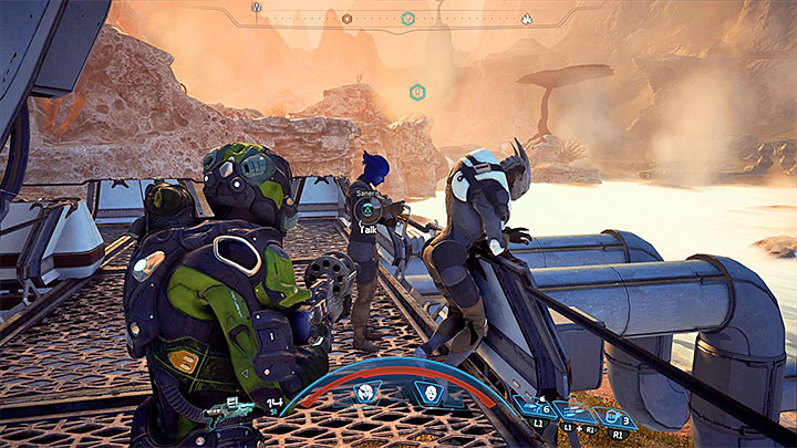 Saneris and Drexel can be found on the balcony overlooking one of the sulfur pools - Counting Bodies | Kadara side quests - Kadara - Mass Effect: Andromeda Game Guide