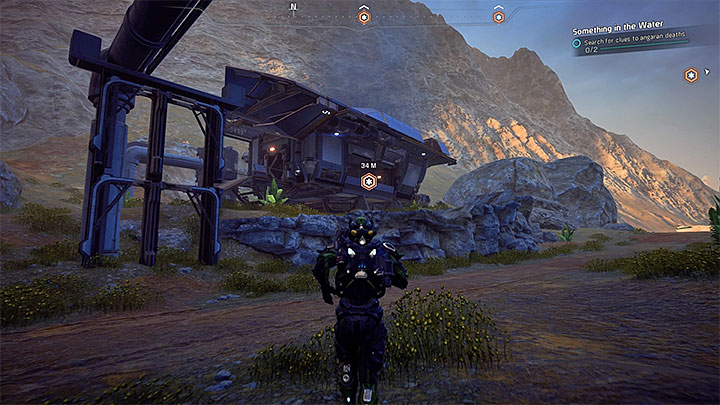 This quest is added automatically to your journal during your exploration of the north-east part of planet Kadara, the Kurinths Valley - Something in the Water | Kadara side quests - Kadara - Mass Effect: Andromeda Game Guide