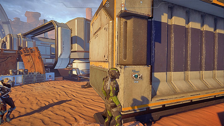 The console that opens the container is on the side - A Better Beginning | Priority Ops - Priority Ops (Main quests) - Mass Effect: Andromeda Game Guide