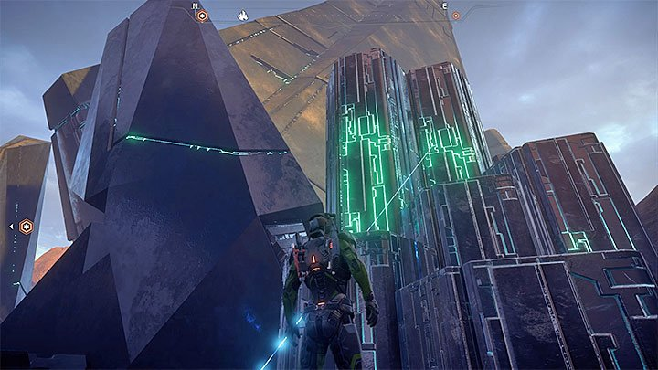 Using the smaller consoles allows you to erect blocks from the ground, they are useful in getting to the glyphs - A Better Beginning | Priority Ops - Priority Ops (Main quests) - Mass Effect: Andromeda Game Guide