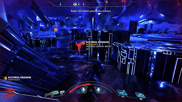 Stay away from the gel-like substance because you can easily die or (in the best case) lose your shield for a moment - A Better Beginning | Priority Ops - Priority Ops (Main quests) - Mass Effect: Andromeda Game Guide