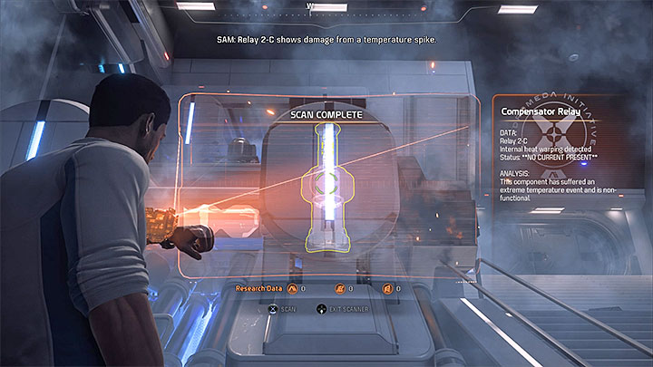 Scan the power cable - Prologue: Hyperion | Priority Ops - Priority Ops (Main quests) - Mass Effect: Andromeda Game Guide