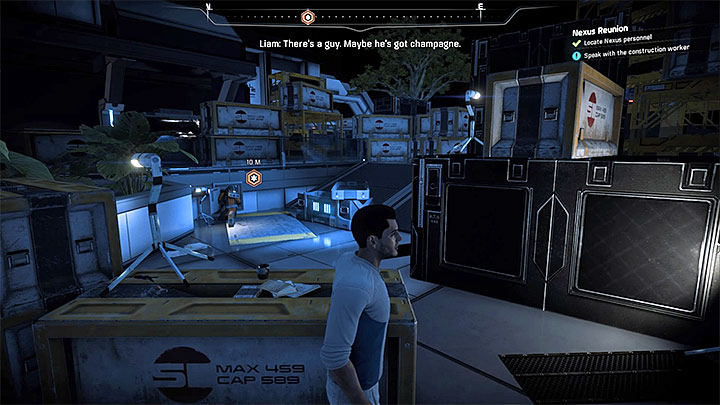 Find the worker in the empty Nexus warehouse - Nexus Reunion | Priority Ops - Priority Ops (Main quests) - Mass Effect: Andromeda Game Guide