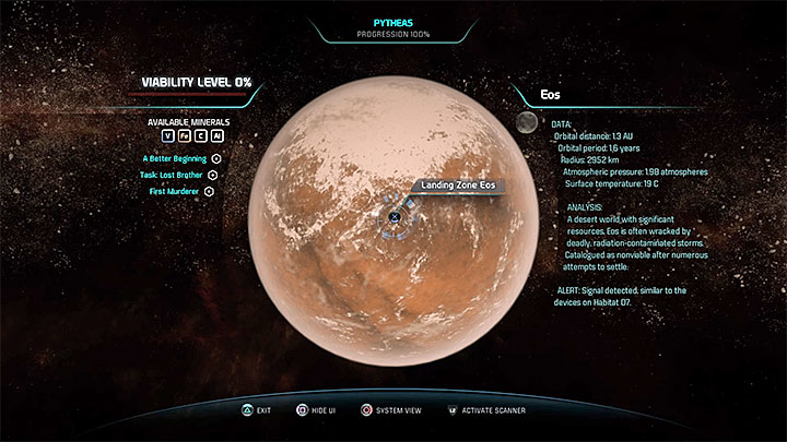Find a landing spot and choose it - A Better Beginning | Priority Ops - Priority Ops (Main quests) - Mass Effect: Andromeda Game Guide