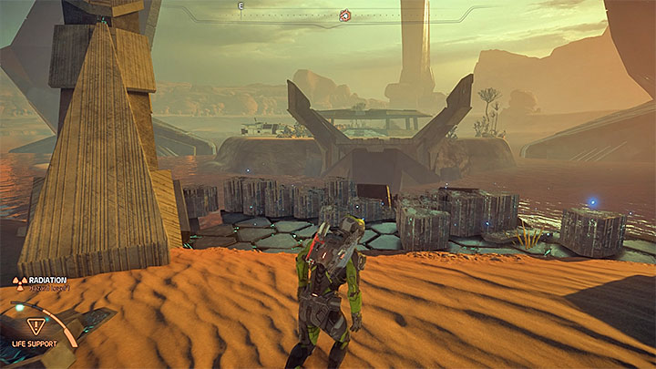 When you activate the three monoliths you must watch the cut-scene that shows the uncovering of the crypts entrance in the center of the map - A Better Beginning | Priority Ops - Priority Ops (Main quests) - Mass Effect: Andromeda Game Guide