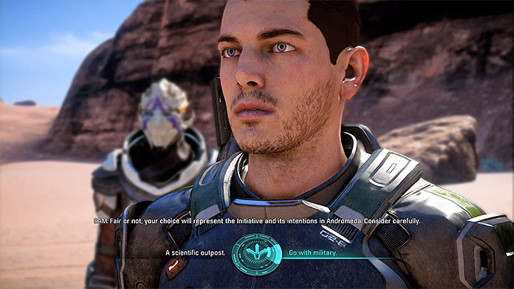 The moment of choosing the outpost - this is a very important decision - A Better Beginning | Priority Ops - Priority Ops (Main quests) - Mass Effect: Andromeda Game Guide