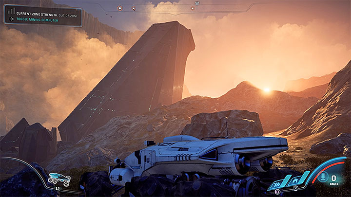 The first monolith can be found north from Kadara Port - Healing Kadaras Heart | Kadara side quests - Kadara - Mass Effect: Andromeda Game Guide