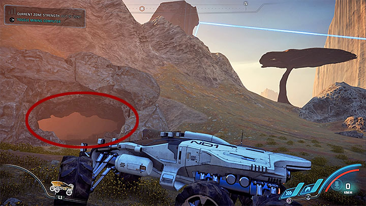 The final, third monolith is located in the southern part of the map - Healing Kadaras Heart | Kadara side quests - Kadara - Mass Effect: Andromeda Game Guide