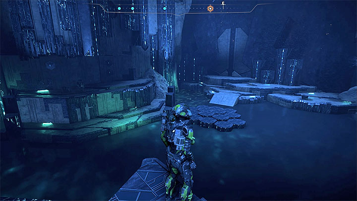 Continue the task by jumping to one of the platforms in the north-eastern part of the vault - Healing Kadaras Heart | Kadara side quests - Kadara - Mass Effect: Andromeda Game Guide