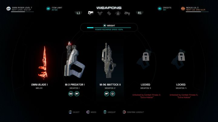 Optimal weight lets us use character powers more often - What does item weight influence in Mass Effect: Andromeda? - FAQ - Frequently asked questions - Mass Effect: Andromeda Game Guide