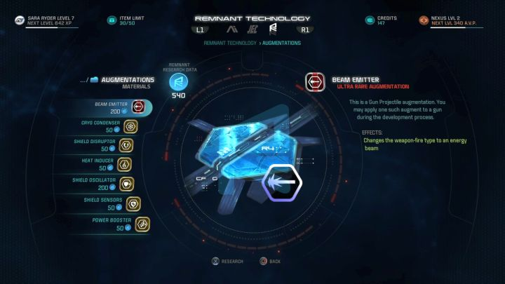 Research Data is used to design new equipment. - What is Research Data in Mass Effect: Andromeda and how to obtain it? - FAQ - Frequently asked questions - Mass Effect: Andromeda Game Guide