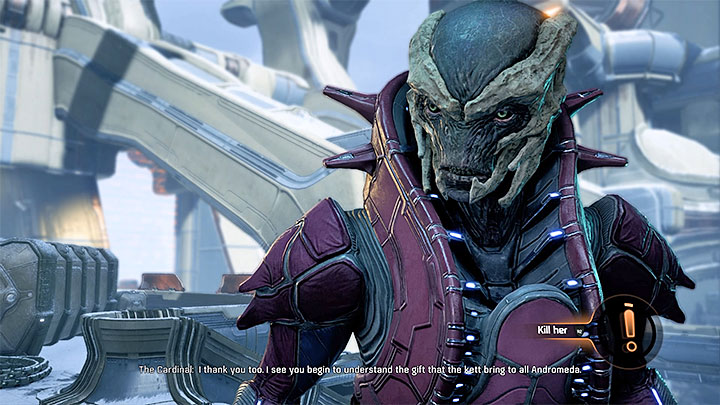 If youve chosen the first variant, youll also be left with the decision on how to proceed with the Cardinal - A Trail of Hope | Priority Ops - Priority Ops (Main quests) - Mass Effect: Andromeda Game Guide