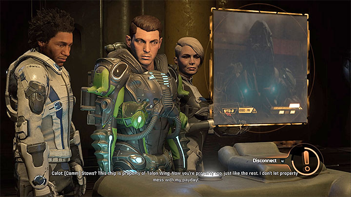You can use a special action to silence Calot - Liam Kosta: All In (loyalty mission) | Allies and Relationships - Allies and Relationships quests - Mass Effect: Andromeda Game Guide