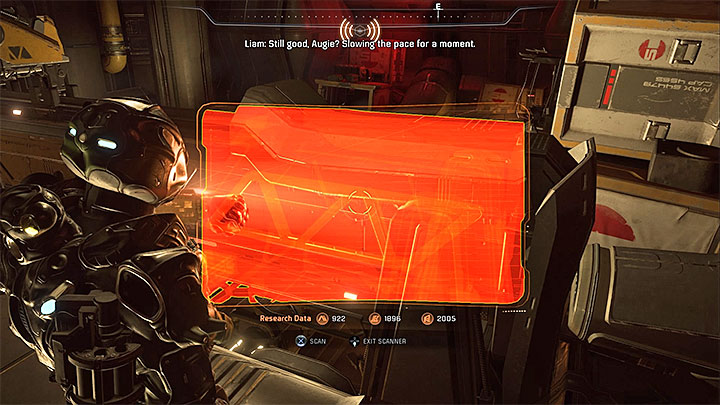 Go through the newly unlocked door and experience the new change in gravity - you are now in the upside-down cargo bay - Liam Kosta: All In (loyalty mission) | Allies and Relationships - Allies and Relationships quests - Mass Effect: Andromeda Game Guide