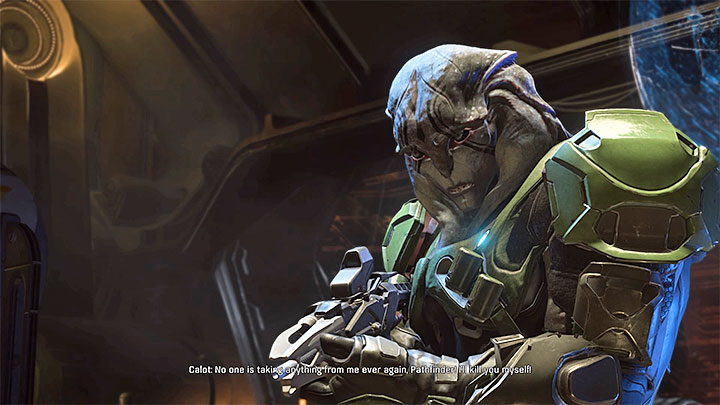 Calot is the leader of the pirates that took over Kett spaceship - How to defeat Calot on the Kett spaceship? | Boss fights | Walkthrough - Boss battles - Mass Effect: Andromeda Game Guide