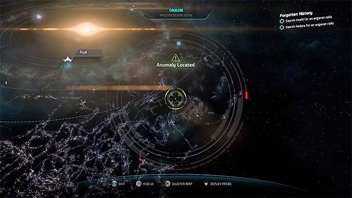 The first out of four anomalies that must be investigated - it can be found in Onaon system - Safe Journeys | Aya side quests - Aya - Mass Effect: Andromeda Game Guide