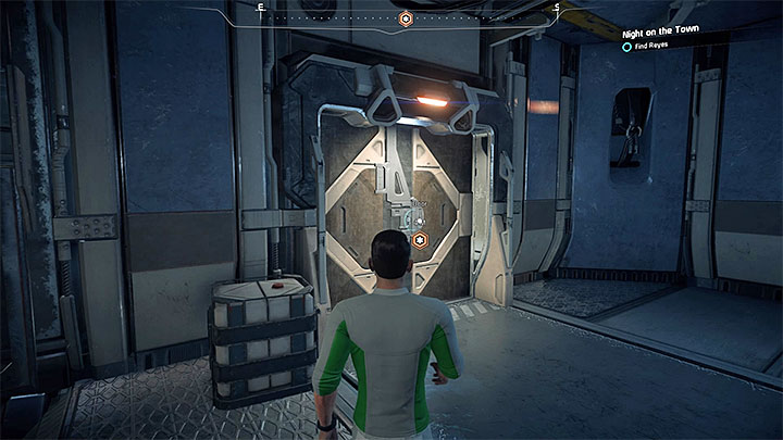 The door to the side room where Reyes is - Night on the Town | Kadara side quests - Kadara - Mass Effect: Andromeda Game Guide