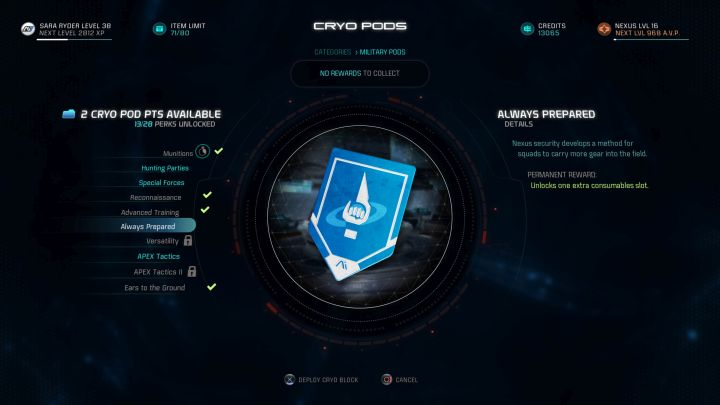 With this cryo pod capsule you will be able to carry more Consumables. - How to increase the amount of carried Consumables in Mass Effect: Andromeda? - FAQ - Frequently asked questions - Mass Effect: Andromeda Game Guide