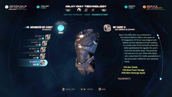 The N7 Armor is a nostalgic addition, but its also a fairly powerful set for a Biotic. - How to unlock the N7 Armor in Mass Effect: Andromeda? - FAQ - Frequently asked questions - Mass Effect: Andromeda Game Guide