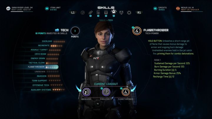 You have to use the Flamethrower ability to gain this trophy. - How to unlock the Pyrotechnics Expert trophy in Mass Effect: Andromeda? - Achievements / Trophies - Mass Effect: Andromeda Game Guide