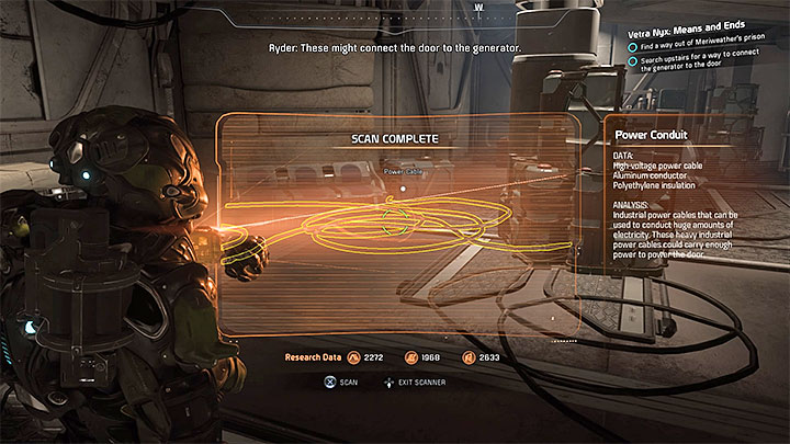 Find the power conduits that are necessary to connect the generator to the door - Vetra Nyx: Means and Ends - Allies and Relationships quests - Mass Effect: Andromeda Game Guide