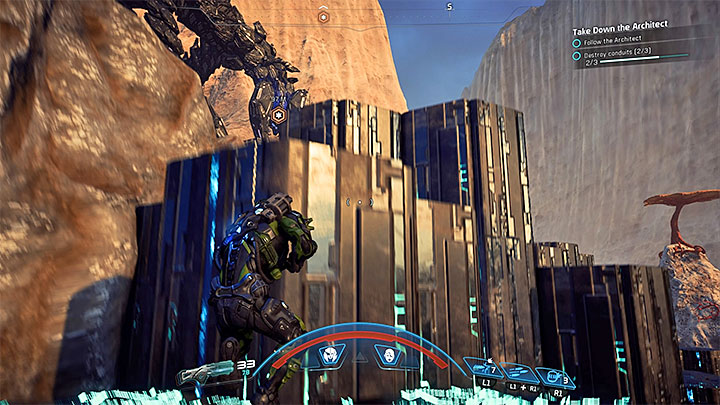 Choose bigger covers but keep in mind that they can suddenly be destroyed - Take Down the Architect on Kadara | Kadara | Heleus Assignments - Kadara - Mass Effect: Andromeda Game Guide