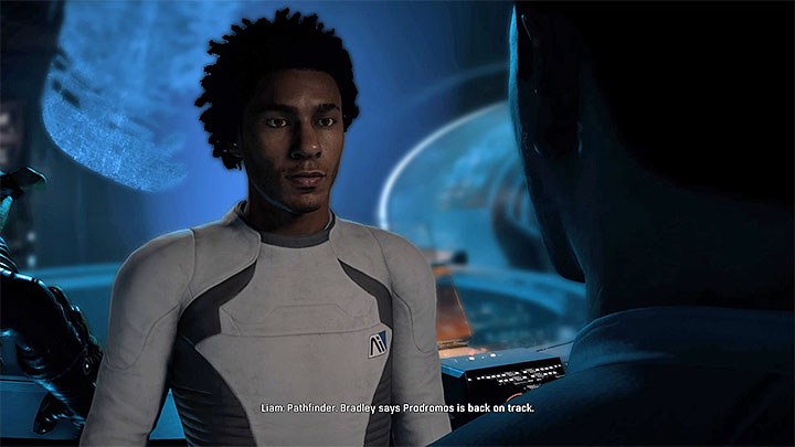 Liam will invite you to take a look at Prodromos with him - Liam Kosta: Community | Allies and Relationships - Allies and Relationships quests - Mass Effect: Andromeda Game Guide