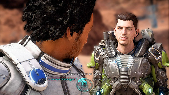 You can take part in the event or keep to spectating - Liam Kosta: Community | Allies and Relationships - Allies and Relationships quests - Mass Effect: Andromeda Game Guide