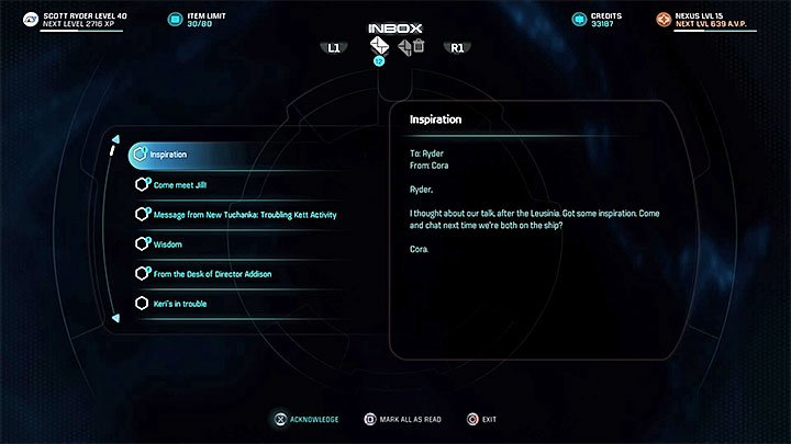 The aftermath of the previous quest - Cora Harper: A Foundation | Allies and Relationships - Allies and Relationships quests - Mass Effect: Andromeda Game Guide
