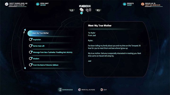 The message from Jaal - Jaal Ama Darav: Runs in the Family | Allies and Relationships - Allies and Relationships quests - Mass Effect: Andromeda Game Guide