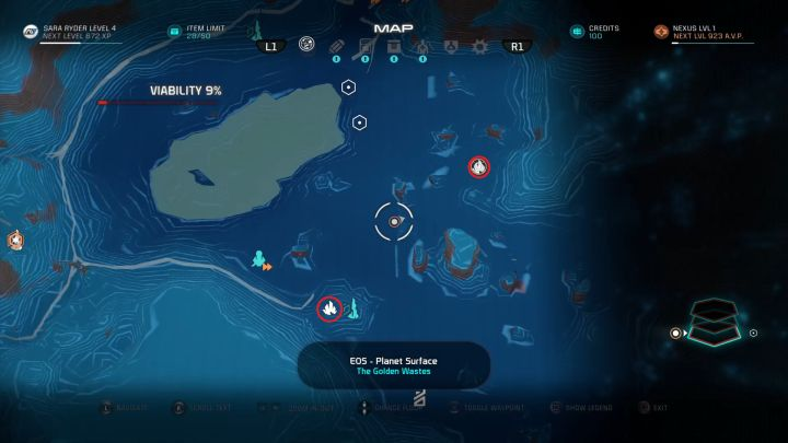 Two out of numerous mineral deposits. - How to collect resources with the NOMAD in Mass Effect: Andromeda? - FAQ - Frequently asked questions - Mass Effect: Andromeda Game Guide