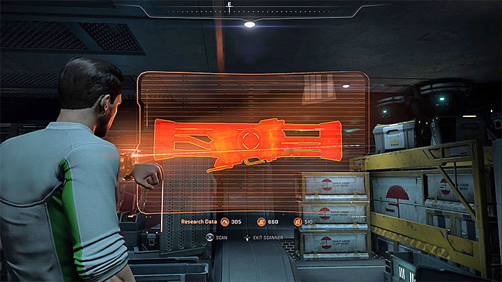 The anomaly that you must find is behind the wall in a small armory, presented on the picture above - Excess Baggage | Tempest side quests - Tempest - Mass Effect: Andromeda Game Guide