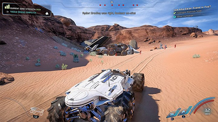 The small Roekaar camp in Blackrock Tande - Jaal Ama Darav: Friend or Foe? | Allies and Relationships - Allies and Relationships quests - Mass Effect: Andromeda Game Guide